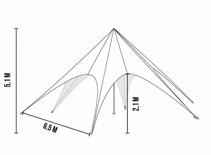 Starshade 400 tent afmetingen | Tenten Sniekers