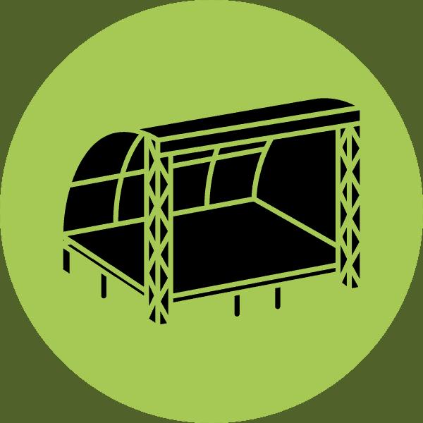 Podiumwagen huren | Tenten Sniekers Bree